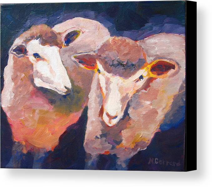 Sheep Canvas Print featuring the painting Wool Marketing Board by Naomi Gerrard