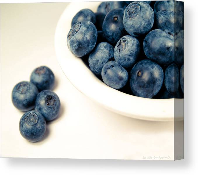 High Key Canvas Print featuring the photograph Blue On White by Susan Westervelt