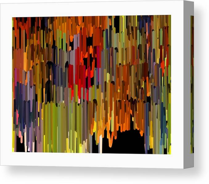 Art Paintings Paintings Canvas Print featuring the painting Abstract- 24 by Ck Gandhi
