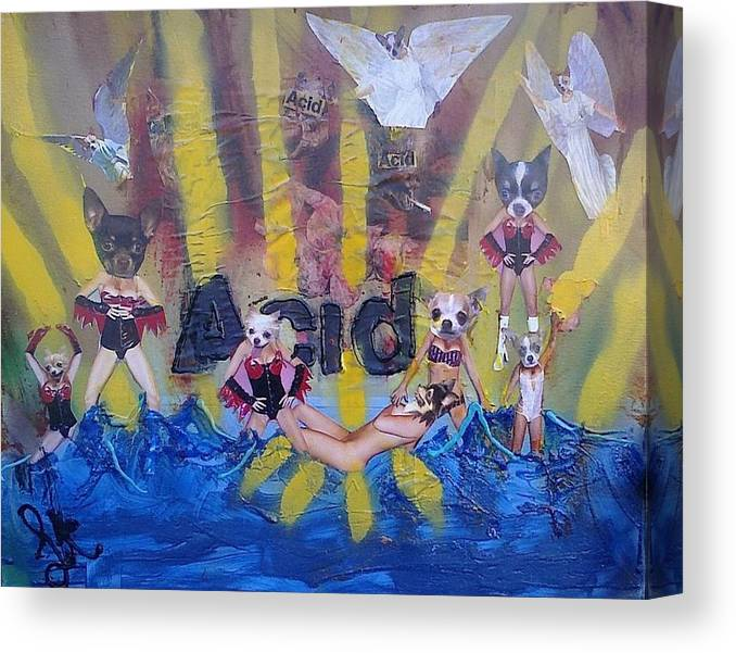 Professional Canvas Print featuring the painting Baptism In Acid by Lisa Piper