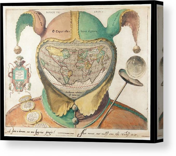 Engraved Map Of The World Canvas Print / Canvas Art by Bodleian ...