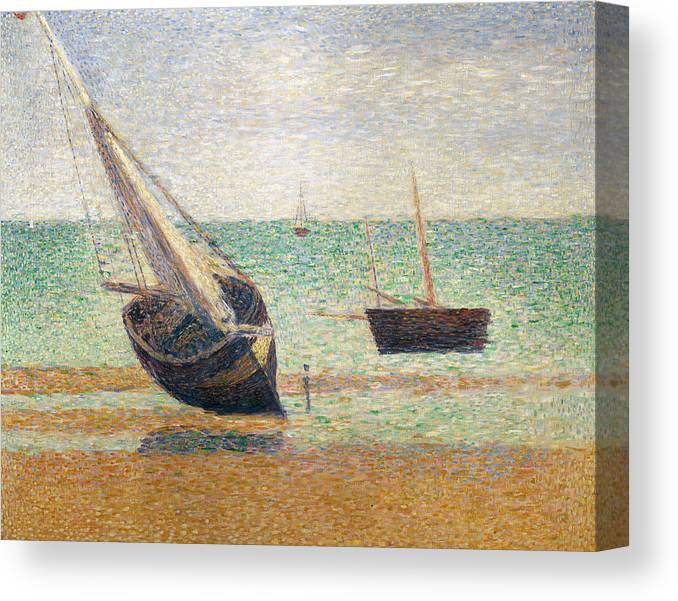 Seurat Canvas Print featuring the painting Low Tide At Grandcamp by Georges Pierre Seurat