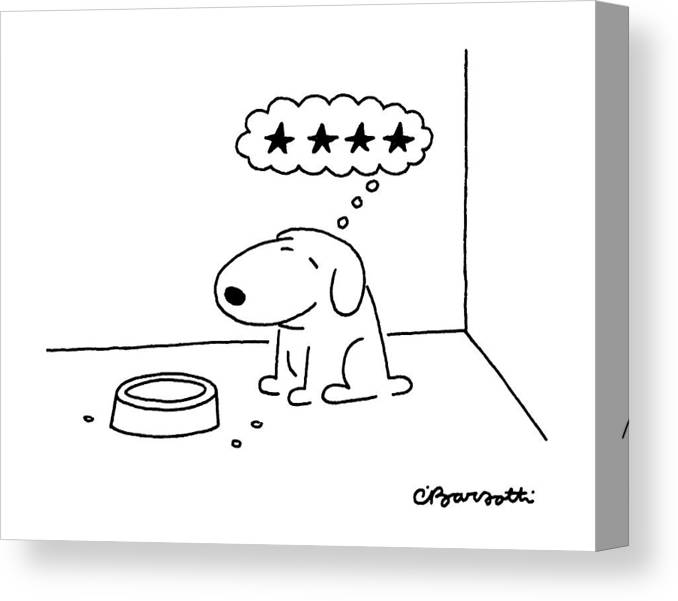 Animals Canvas Print featuring the drawing New Yorker October 20th, 1986 by Charles Barsotti