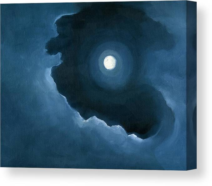Full Moon Canvas Print featuring the painting Night Light by Katherine Miller