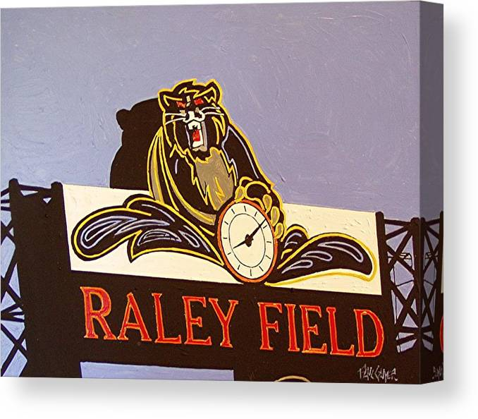 Raley Field Canvas Print featuring the painting Raley Field by Paul Guyer