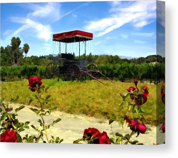 Rideau Vineyards Canvas Print featuring the photograph Rideau Vineyards Solvang California by Kurt Van Wagner
