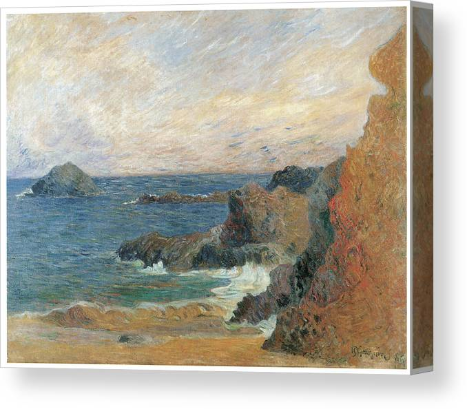 Paul Gauguin Canvas Print featuring the painting Seascape by Paul Guaguin