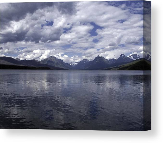 Landscape Canvas Print featuring the photograph The Blues by SEA Art