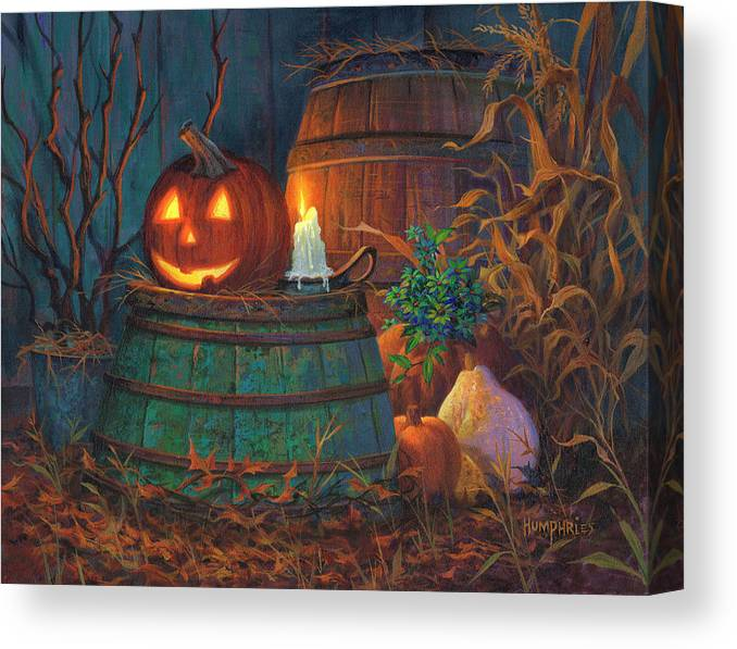 Michael Humphries Canvas Print featuring the painting The Great Pumpkin by Michael Humphries