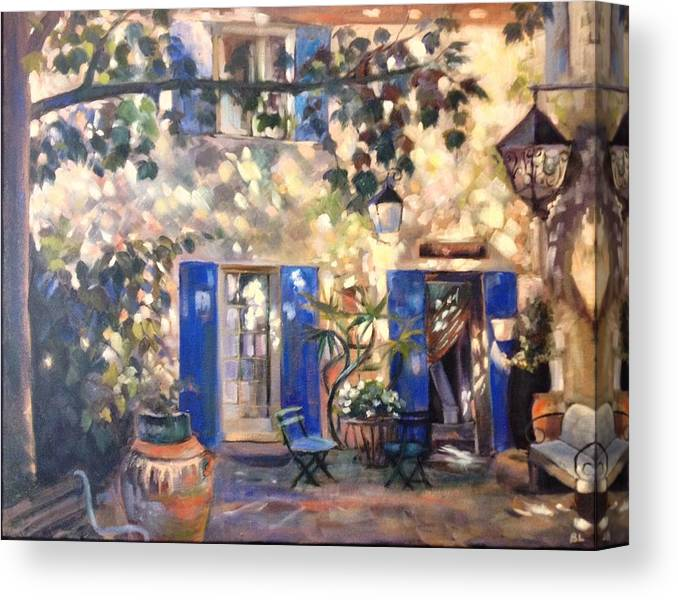 Canvas Print featuring the painting Venasque B And B by Brenda Loschiavo