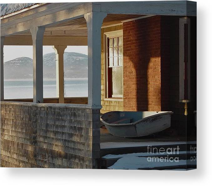 Boat Canvas Print featuring the photograph Waiting For Spring by Christopher Mace