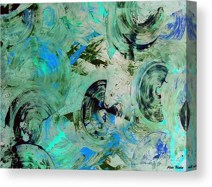 Modern Canvas Print featuring the painting Fiinuaa by Alex Blaha