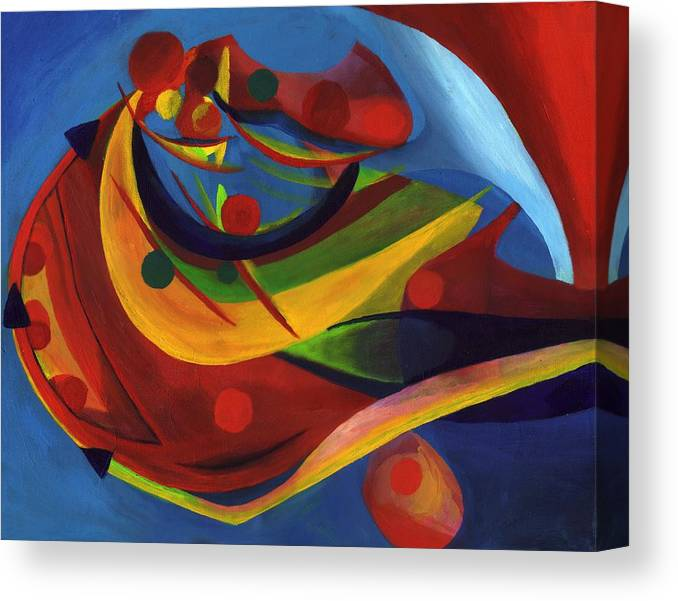 Bright Canvas Print featuring the painting Gathering Energy by Peter Shor