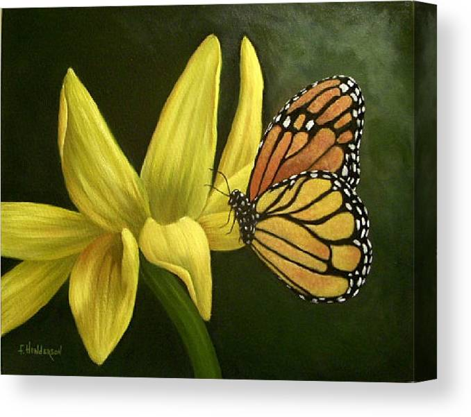 Butterfly Canvas Print featuring the painting A Place To Rest by Francine Henderson