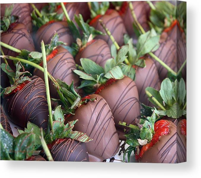 Chocolate Canvas Print featuring the photograph Addiction by KatagramStudios Photography