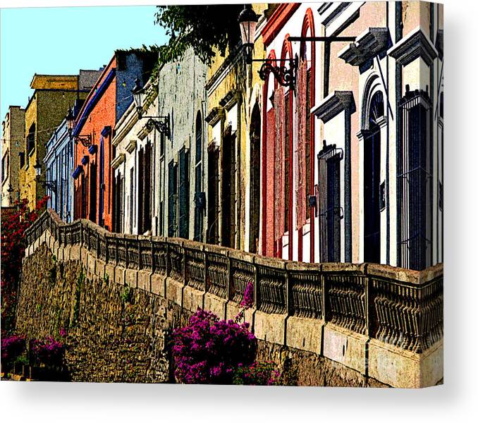 Olden Mexico Canvas Print featuring the photograph Angel Flores By Darian Day by Mexicolors Art Photography