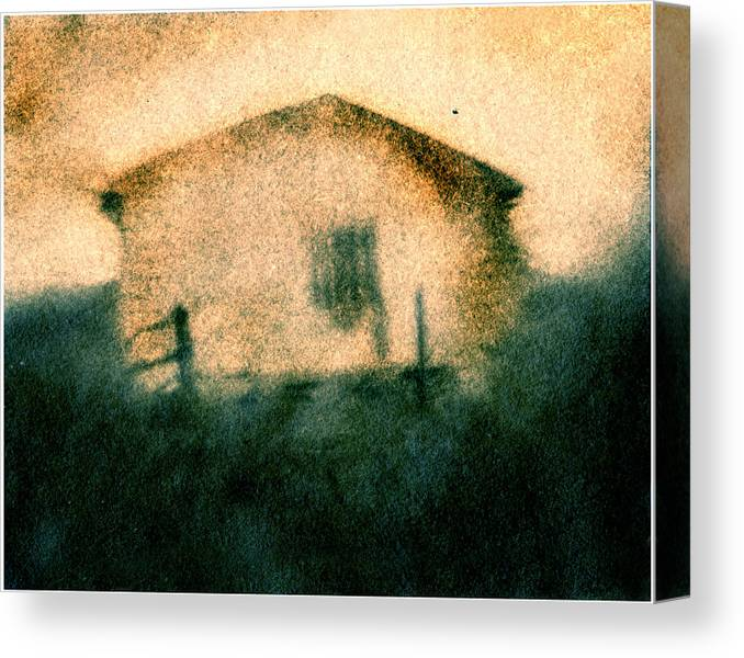 Building Canvas Print featuring the photograph Back Of Ther Back by Diana Ludwig
