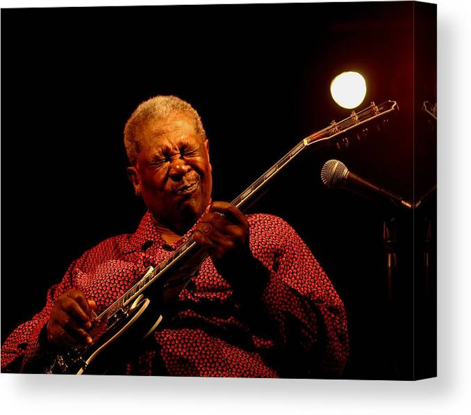 Bb King. Postage Stamp. Blues Canvas Print featuring the photograph Bb King Postage Stamp by Bob Guthridge