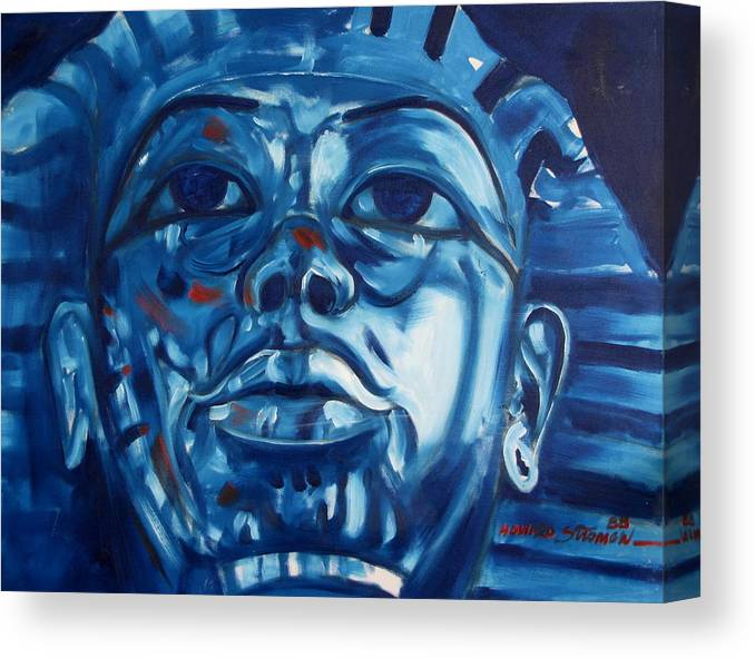 King Tut Canvas Print featuring the painting Blue Boy by Howard Stroman