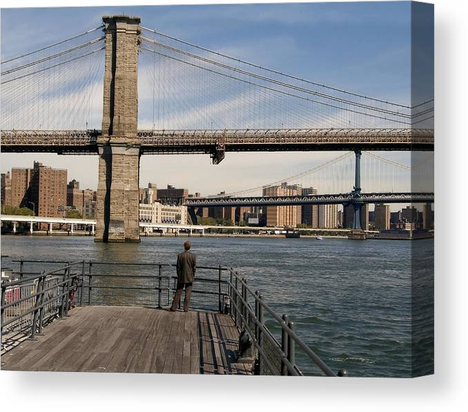 Brooklyn Bridge Canvas Print featuring the photograph Brooklyn Bridge by Andrew Kazmierski