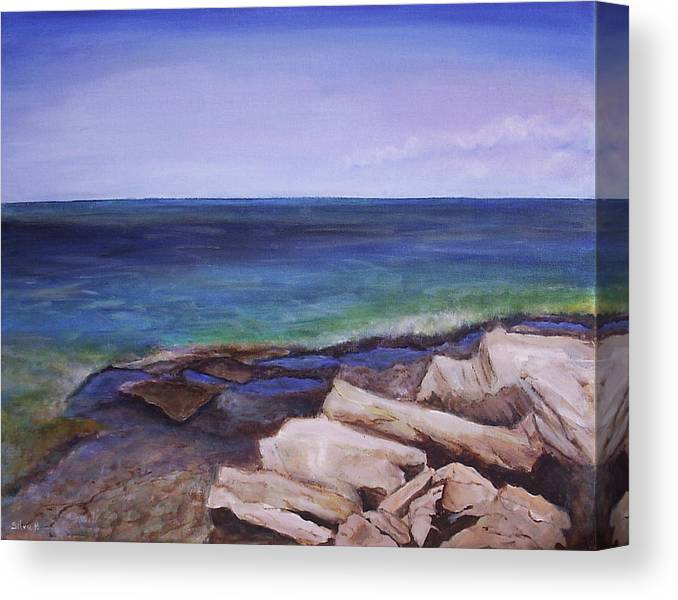 Seascape Canvas Print featuring the painting Bruce Peninsula by Silvia Philippsohn