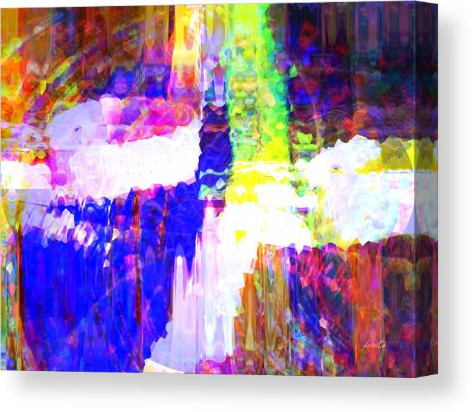 Colorful Canvas Print featuring the mixed media Changing Color by Fania Simon