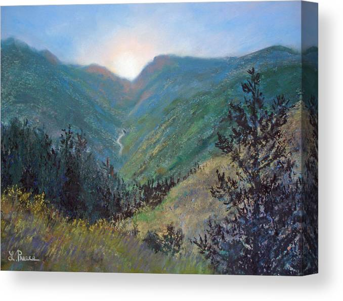 Colorado Canvas Print featuring the pastel Colorado Highway by Linda Preece