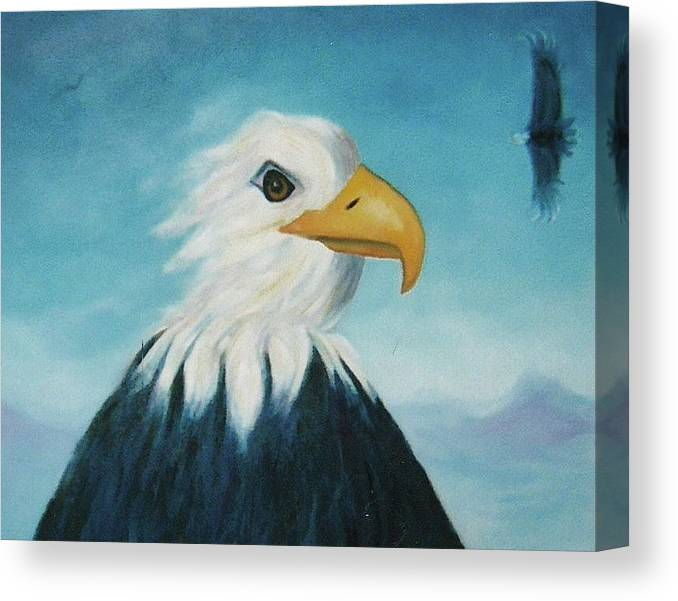 Eagle Canvas Print featuring the painting Eagle by Suzanne Marie Leclair