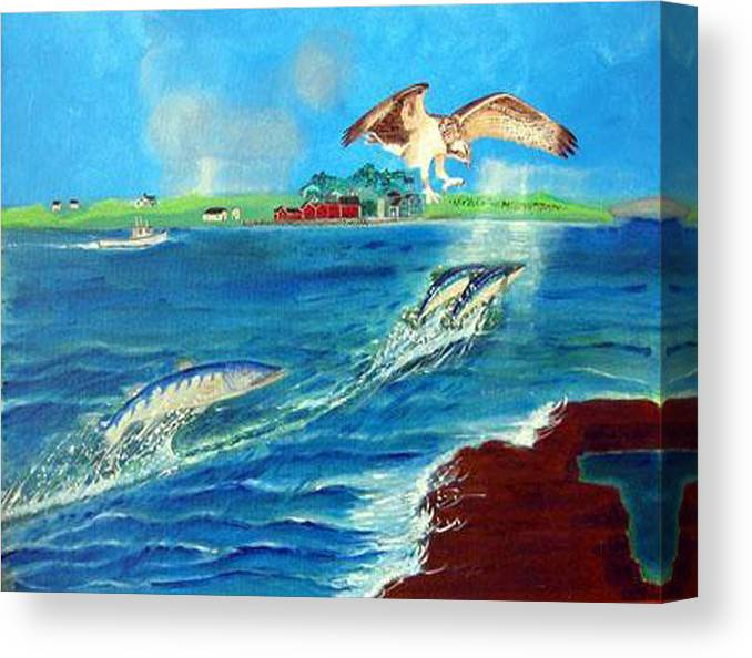 Osprey Canvas Print featuring the painting Either Way by Richard Le Page