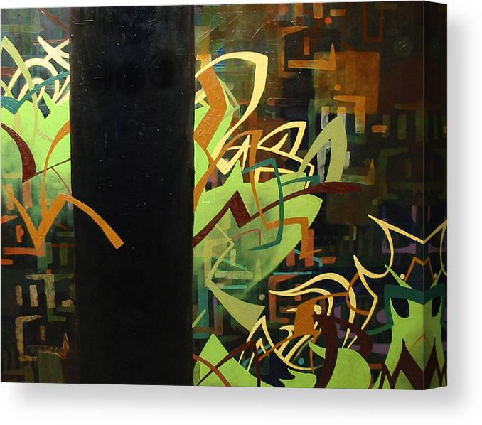 Electric Canvas Print featuring the painting Electronica by Monica James