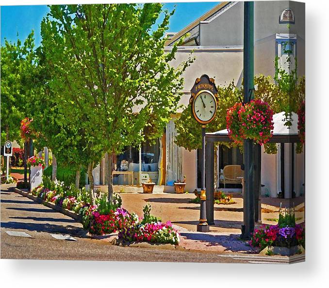 Fairhope Canvas Print featuring the painting Fairhope Ave With Clock Looking North Up Section Street by Michael Thomas