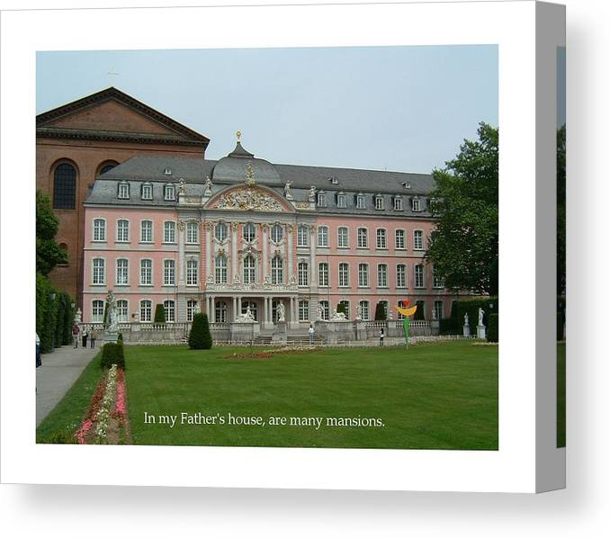 Germany Canvas Print featuring the photograph Fathers House Many Mansions by John Hazlett