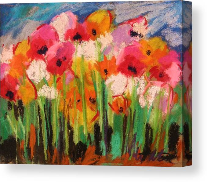 Flowers Canvas Print featuring the painting Flowers by John Williams
