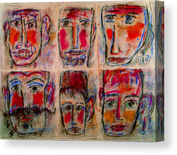 Expressionism Canvas Print featuring the mixed media Gentlemen by Natalie Holland