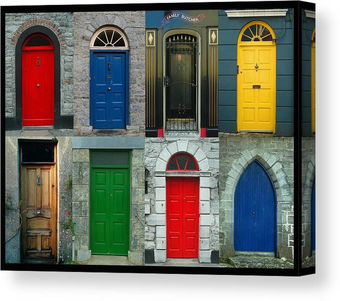 Irish Canvas Print featuring the photograph Irish Doors by Joe Bonita