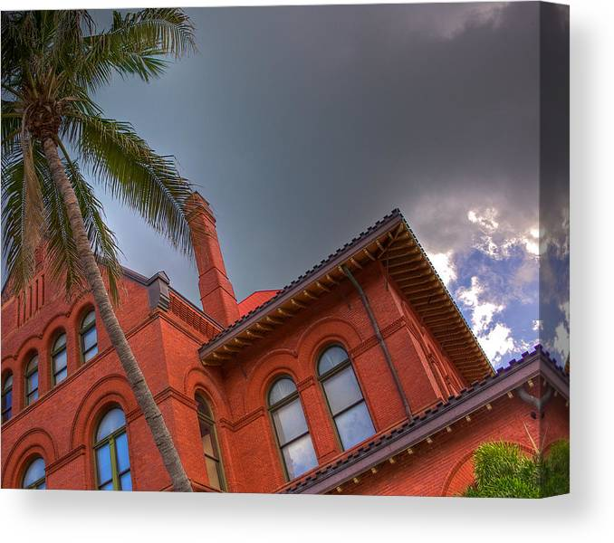 Key West Canvas Print featuring the photograph Key West Customs House by William Wetmore