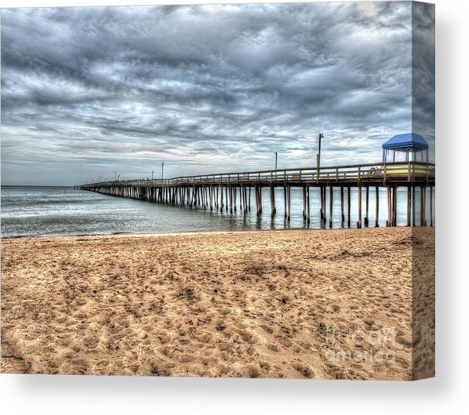Virginia Canvas Print featuring the photograph Lynnhaven Fishing Pier, Bay Side by Greg Hager