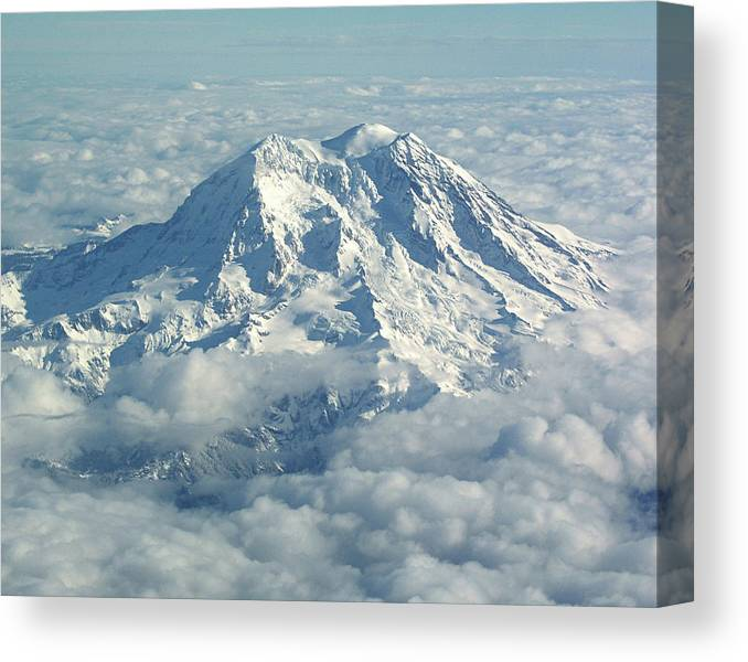 Mt Hood Canvas Print featuring the photograph Mount Hood From Above by Helaine Cummins