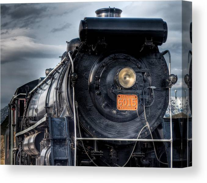 4-8-2 Canvas Print featuring the photograph Mountain Class - Canadian National 6016 by R J Ruppenthal