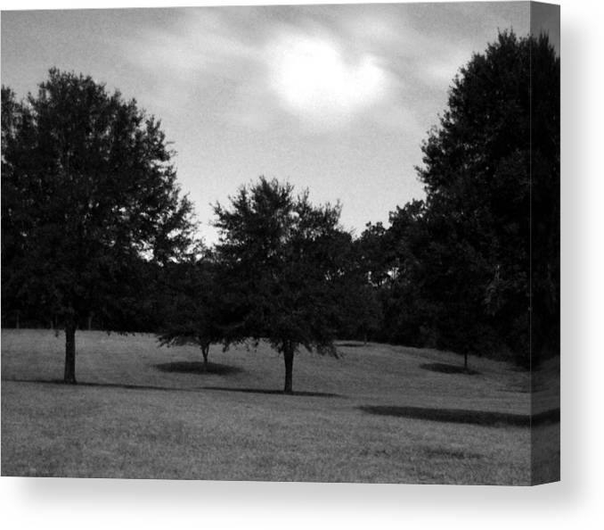 Landscape Canvas Print featuring the photograph Nine Thirty At Night Where My Heart Is by Heather S Huston