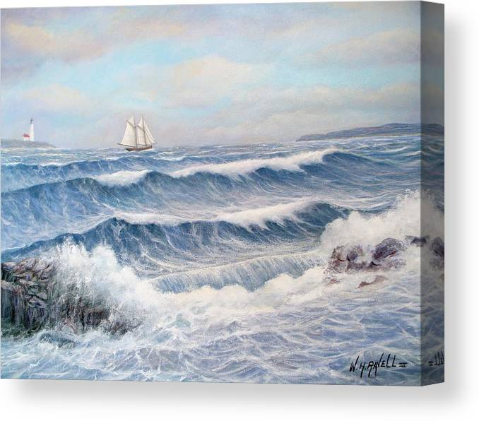 Seascape Canvas Print featuring the painting Outward Bound by William H RaVell III