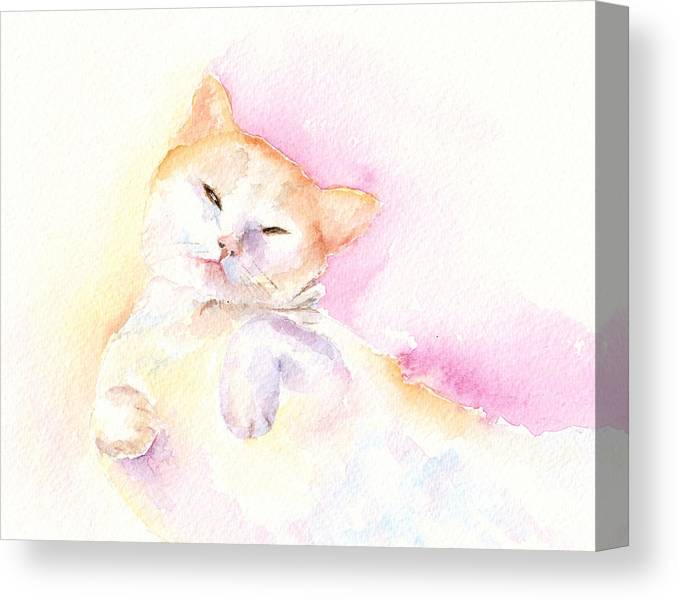 Cat Canvas Print featuring the painting Playful Cat II by Elizabeth Lock