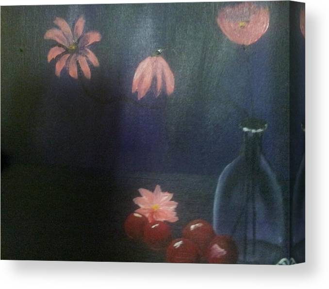 Still Life Canvas Print featuring the painting Purple by Christine Daffie