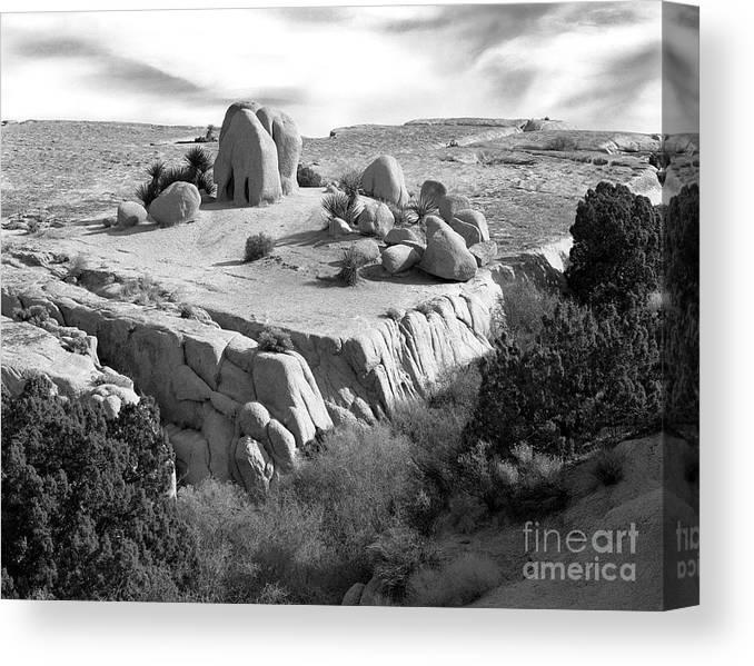 Original Canvas Print featuring the photograph Sandstone Plateau by Christian Slanec