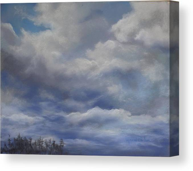 Cloud Scape Canvas Print featuring the painting Storm A Brewing by Lynne Parker