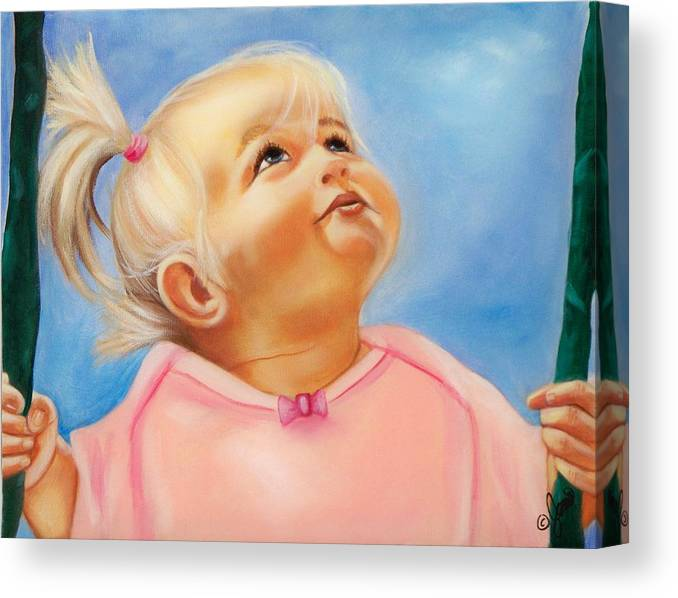Portrait Canvas Print featuring the painting Summer Dreams by Joni McPherson