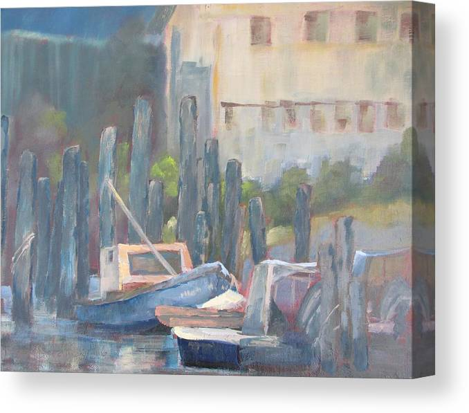 Florida Canvas Print featuring the painting Sun Up Eastpoint by Susan Richardson