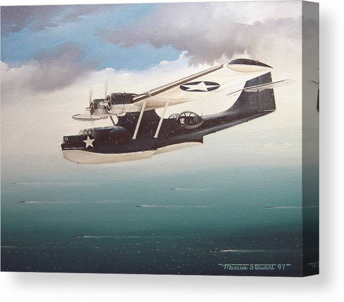 Painting Canvas Print featuring the painting The Good Shepherd by Marc Stewart
