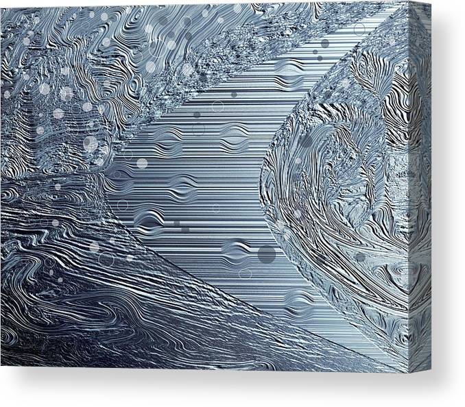 Tiny Bubbles Canvas Print featuring the photograph Tiny Bubbles by Donna Proctor