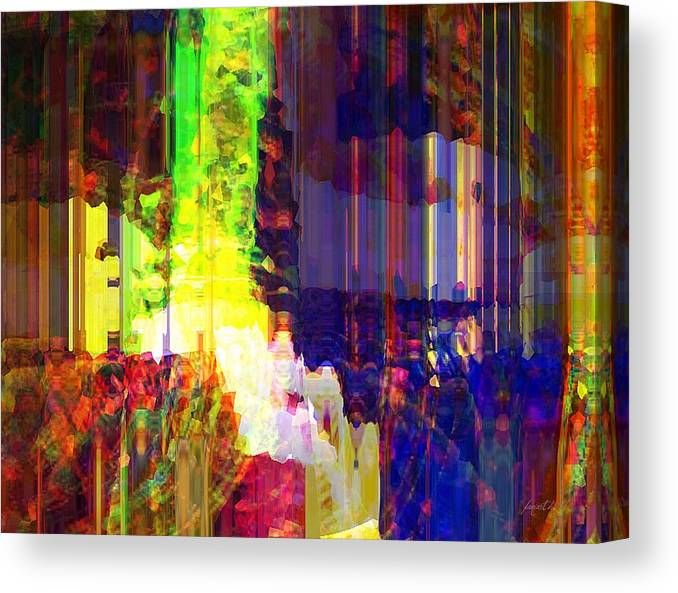 Abstraction Canvas Print featuring the mixed media Waking Up Happy by Fania Simon
